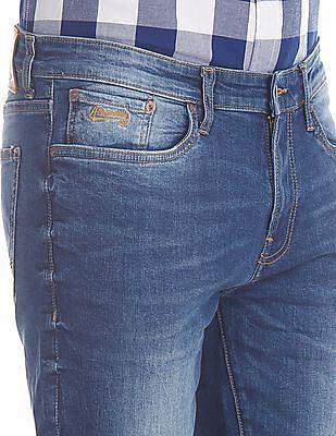 Aeropostale Blue Skinny Fit Washed Jeans