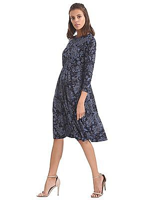 U.S. Polo Assn. Women Knitted Fit And Flare Dress