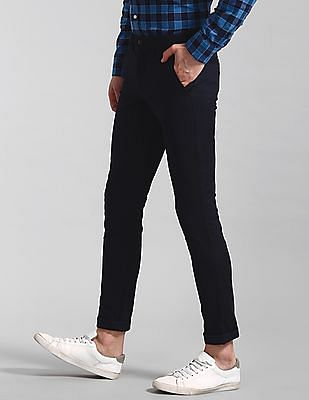 GAP Blue Modern Khakis In Skinny Fit With GapFlex