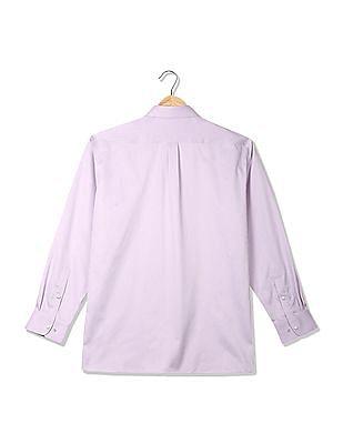 Arrow Stitch-Less Patterned Striped Shirt