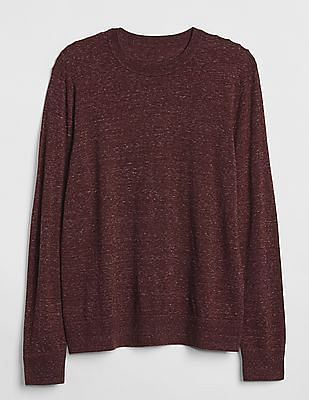 GAP Men Red Budding Crewneck Pullover Sweater