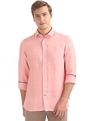 Nautica Long Sleeve Linen Shirt