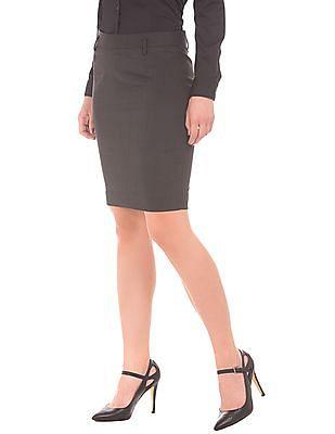 Arrow Woman Solid Pencil Skirt