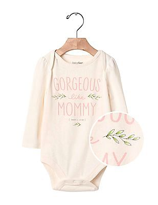 GAP Baby Pink Mommy And Daddy Bodysuit