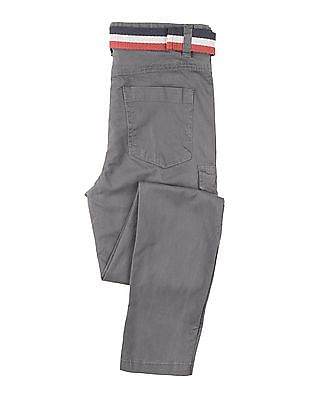 Cherokee Boys Solid Cargos With Belt