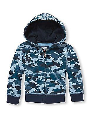 The Children's Place Toddler Boys Active Full-Zip Fleece Hoodie