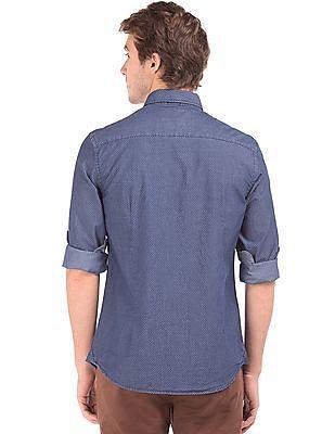 U.S. Polo Assn. Denim Co. Slim Fit Geometric Print Shirt