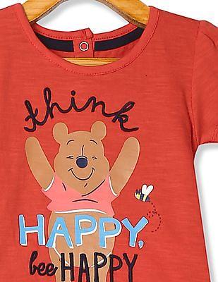 Colt Girls Winnie The Pooh Print Knit Top