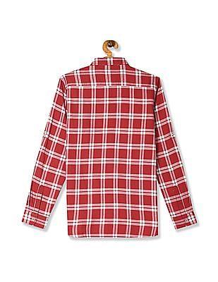 U.S. Polo Assn. Kids Red Boys Check Twill Shirt