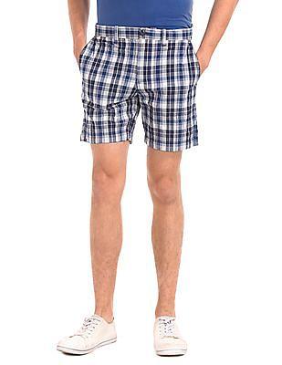 GAP Plaid Seersucker Getaway Shorts