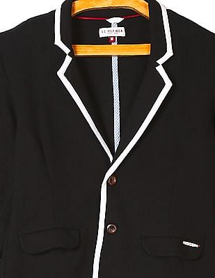 U.S. Polo Assn. Kids Boys Single-Breasted Solid Blazer