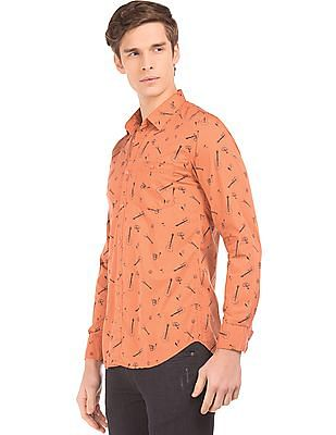 Colt Printed Slim Fit Shirt