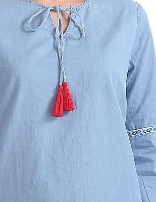 Cherokee Chambray Full Sleeve Top