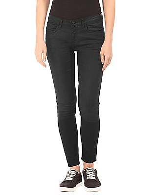 EdHardy Women Coated Skinny Jeans