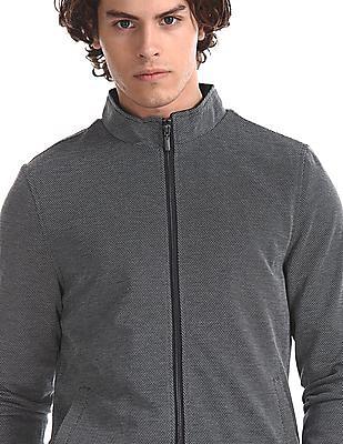 Arrow Sports Blue Patterned Zip Up Jacket