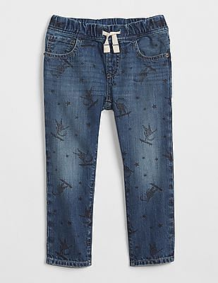 GAP Toddler Boy Pull-On Slim Jeans In Astronaut Print