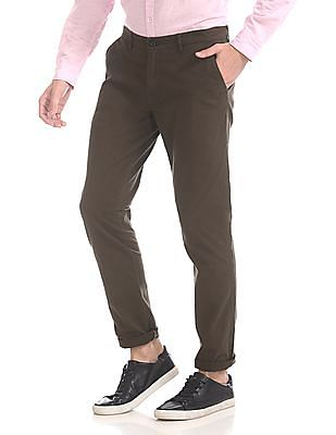 Roots by Ruggers Slim Fit Flat Front Chinos