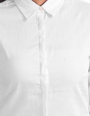 U.S. Polo Assn. Women Standard Fit Satin Shirt