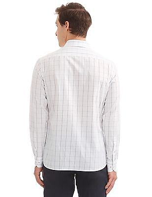 Arrow Slim Fit Windowpane Check Shirt