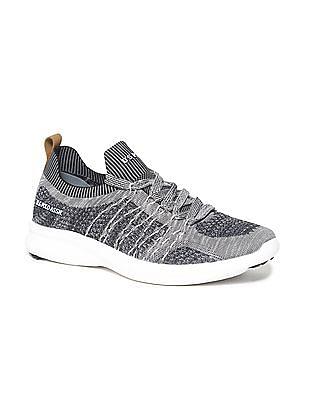 U.S. Polo Assn. Grey Knit Upper Patterned Sneakers