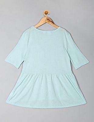 GAP Girls Blue Peplum T-Shirt