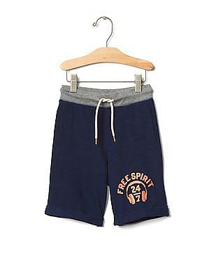 GAP Toddler Boy Blue Athletic Sweat Shorts
