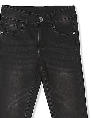 Cherokee Black Boys Regular Fit Washed Jeans