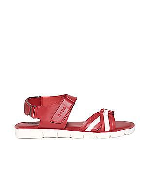 U.S. Polo Assn. Open Toe Striped Sandals