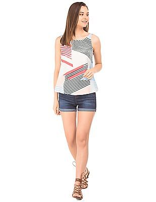 SUGR Combination Striped Sleeveless Top
