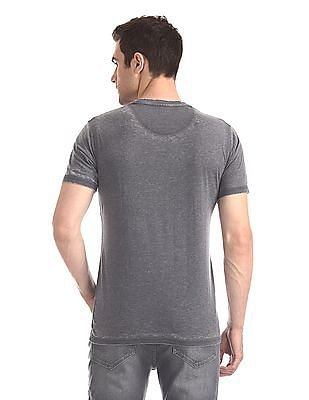 Cherokee Grey Round Neck Graphic T-Shirt