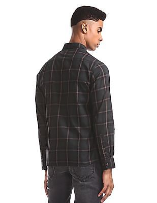 Arrow Sports Green Concealed Button Down Collar Shirt