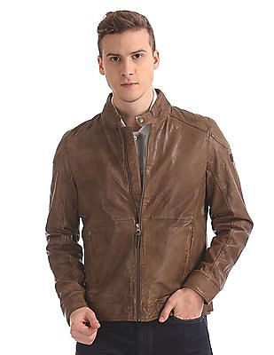 U.S. Polo Assn. Denim Co. Leather Biker Jacket