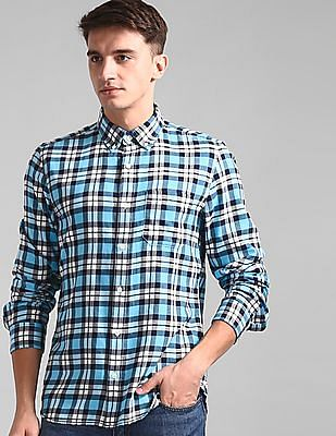 GAP Blue Slim Fit Cotton Shirt