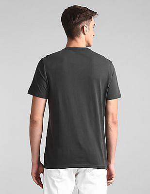 GAP Grey Crew Neck Logo T-Shirt