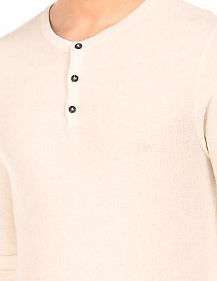 Ed Hardy Slim Fit Henley Neck Sweater
