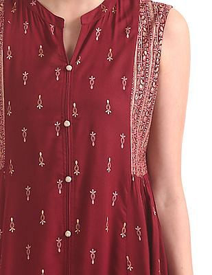 Anahi Printed Sleeveless Kurta