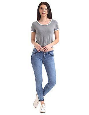 SUGR Slim Fit Stone Wash Jeans