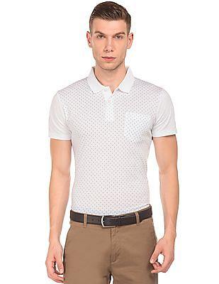 Arrow Paisley Print Regular Fit Polo Shirt