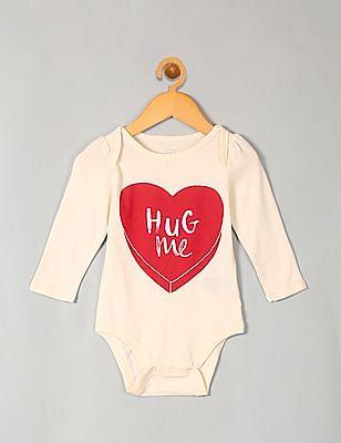 GAP Baby Candy Heart Long Sleeve Bodysuit
