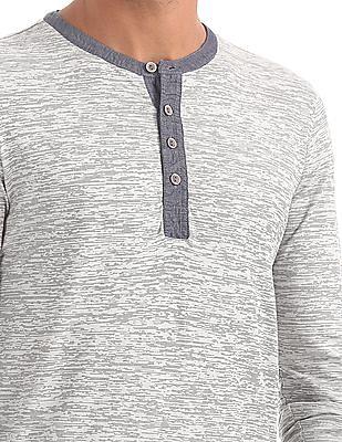 Cherokee Heathered Henley T-Shirt