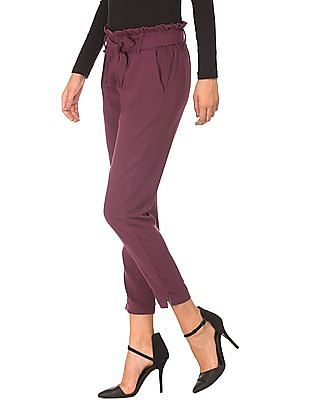 Cherokee Elasticized Waist Tapered Pants