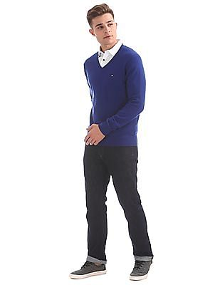 Arrow Sports V-Neck Wool Blend Sweater