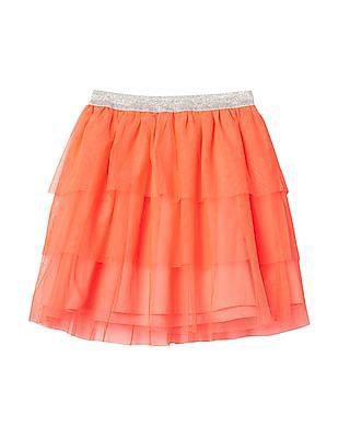GAP Girls Tulle Tiered Flippy Skirt