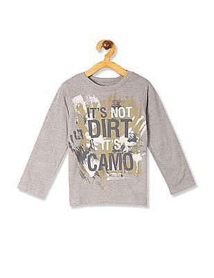 The Children's Place Brown Toddler Boy It's Not Dirt It's Camo Print T-Shirt