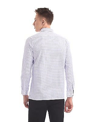 Excalibur Semi Cutaway Collar Check Shirt