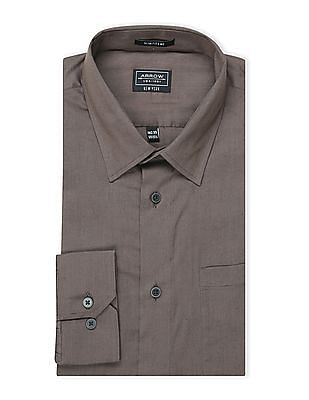 Arrow Newyork Slim Fit Solid Shirt