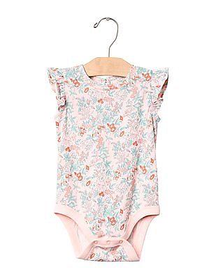 GAP Baby Floral Flutter Bodysuit