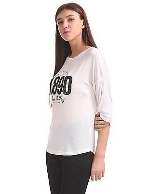 U.S. Polo Assn. Women Appliqued Dolman Sleeve Top