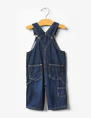 GAP Baby Blue 1969 Lined Denim Overalls