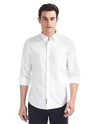 Gant Tech Prep Oxford Plain Regular Hidden Button Down Shirt